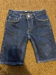 Bermuda jeans infantil menina Levis