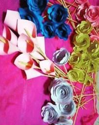 Faço flores de papel 1real