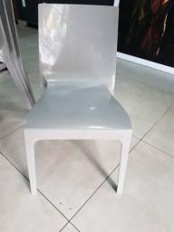 Cadeira em polipropileno cinza (modelo Juno) (várias unidades)