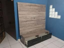 Painel para Tv com duas gavetas