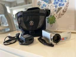 Filmadora Sony Handycam DCR-SR68 com visor touch scream