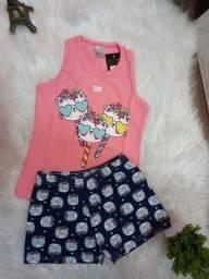 Conjunto infantil  e juvenil cotton
