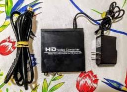 Usado, Conversor HDMI para AV (CVBS) / com fonte e cabo Hdmi comprar usado  Rio de Janeiro