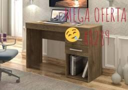 Mesa de escritório com 2 gavetas mdf Frete Grátis!!!