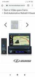 Dvd h-buster retrátil com GPS e câmera de ré semi-novo