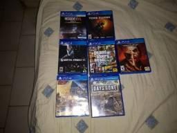 Lote de jogos de PS4 semi novos