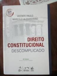 """""""Direito Constitucional Descomplicado """" + Caderno - em ótimas condições"""
