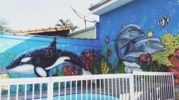 Piscina graffiti arte 12 no cartão n juros