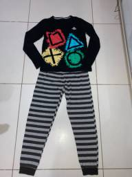 Pijama comprido. 12 anos. Modelo PS4