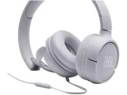 Fone de Ouvido JBL com Microfone Branco T500WHT