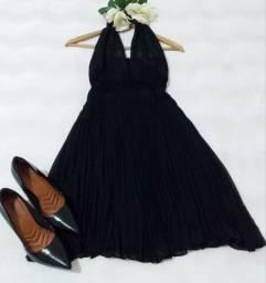 Vestido lindo e sapato
