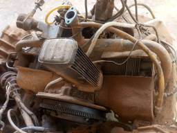Motor da kombi com caixa de macha...
