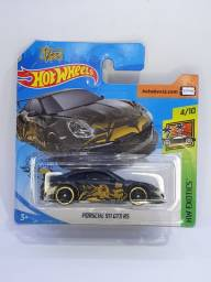 Porsche 911 GT3 RS - Preto - Hot Wheels