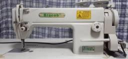 Máquina de Costura Industrial Reta Bracob com Mesa