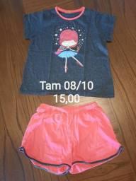 Pijamas feminino Tam 8 ao 14