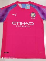Camisa Manchester City Goleiro Rosa Puma 19/20 - Tamanho: G