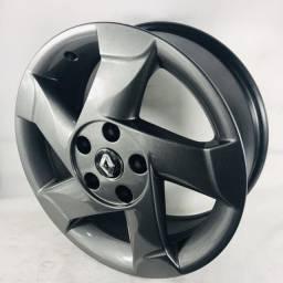 Rodas Duster Alumino R$ 600,00 troco pneu