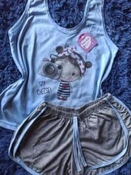 Baby Doll Pijamas Poliéster tamanhos e cores variadas!