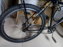 Bicleta semi nova completa com amortecedor dianteiro