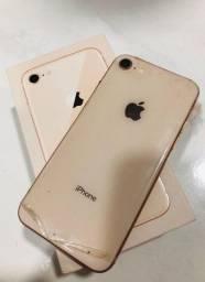 Iphone 8 gold 64gb semi novo