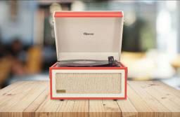 Toca Discos Raveo Arena Gravador Fm Usb Bluetooth Vitrola