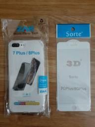 CAPA ANTI IMPACTO IPHONE 7GPLUS/ 8GPLUS + PELICULA 3D.