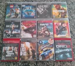 Jogos de PS3 mídia física