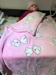 Cobertor e saco de dormir