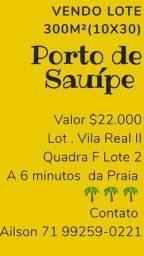 vendo lote porto Sauípe loteamento villa real 2