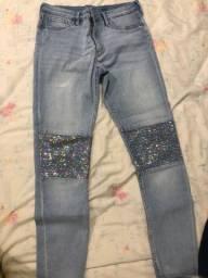 Calça jeans infantil tamanho 12-13