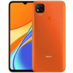 Xiaomi Redmi 9c 64gb mem int laranja zero lacrado aceito cartão/celular como pagto