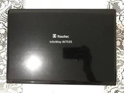 Vendo 2 notebooks Itautec | 1. InfoWay W7535 2. InfoWay W7655