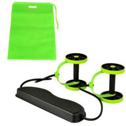 Kit Musculação Fitness Elástico Roda Extensor para Abdominal