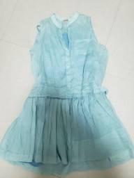 Vestido Cantão M azul bebê