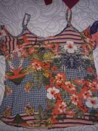 Blusa floral feminina infantil