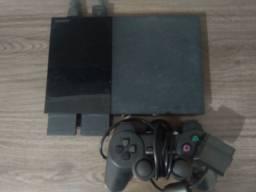 PS2 + Direção + 50 Jogos