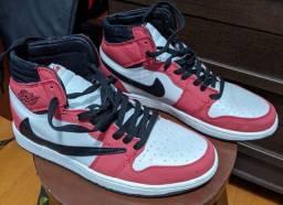 Air Jordan 1 Travis Scott - Vermelho e Branco