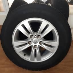 Jogo rodas aro 16 + pneus 215x65x16