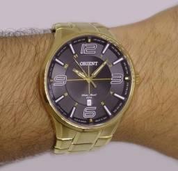 Relógio Orient Original Novo Banhado a Ouro Peça ja o Seu