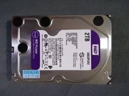 Hd Interno Wd Purple 2Tb para Dvr Cftv Wd20purz (usado)