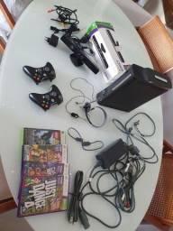 Kit Completo Xbox 360 Elite (usado - tudo funcionando)