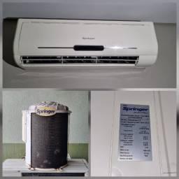 Ar-Condicionado Split Springer MaxiFlex 9.000 BTUs Quente/Frio 220V Usado