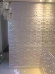 Placa 3D pvc para teto ou parede 50x50cm $7,75