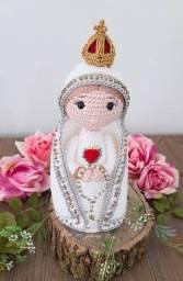 Nossa senhora de Fátima em Amigurumi