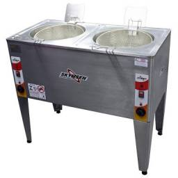 Fritadeira industrial dupla - JM equipamentos