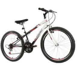 Bicicleta Aro 24 track branca/preta