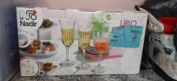 Jogo de taças p/ água e champanhe