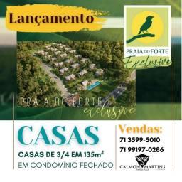 Casas em Praia do Forte, 3/4 em 136m²