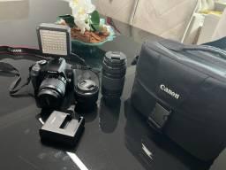 Câmera Canon Rebel T6 - Com 3 lentes