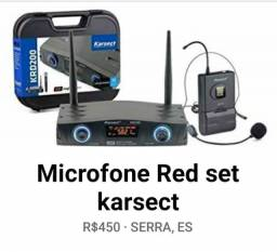 Microfone Red set karsect  $450 reais